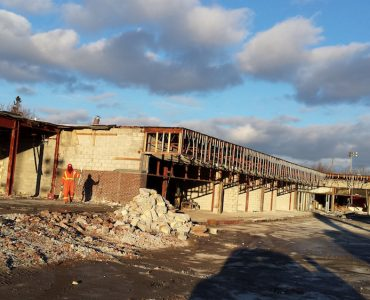 Commercial Plaza Demolition for New Townhome Development